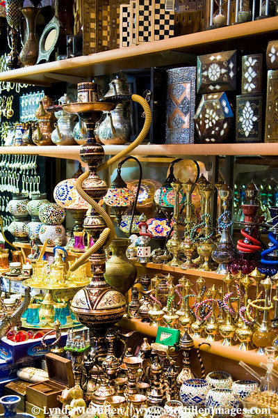 Water Pipes and other wares in the Grand Bazaar.