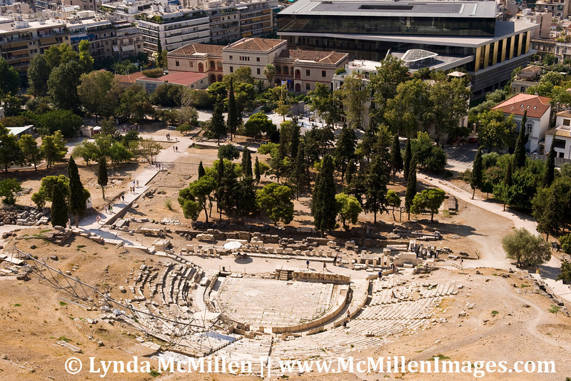 Theater of Dionysos as seen from the Acropolis.