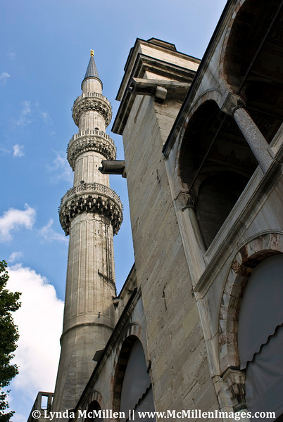 The call-to-prayer is announced from the minaret whcih also functions as a ventilation system: