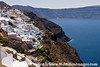Caldera visible from Oia Village, Santorini Greece