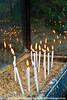 Prayer candles at Mary's House in Ephesus reflect passing souls.