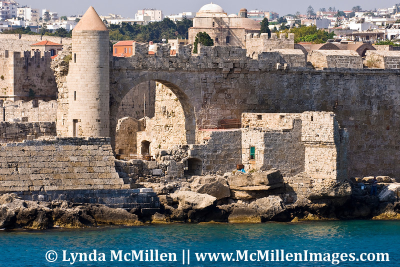 The medieval walled city of Rhodes is designated a UNESCO world heritage site.