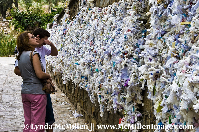 Grief at the Prayer Wall.  The site of Mary's house in Meryemana was discovered after following visions that came to a German nun in her dreams.