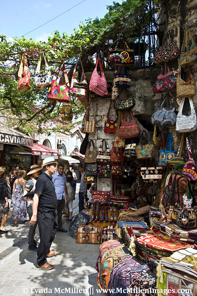 The Grand Bazaar:  Shopkeepers have spilled out onto the surrounding streets.