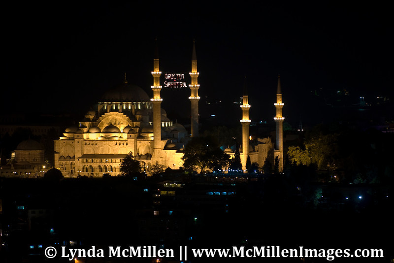 Blue Mosque by night.