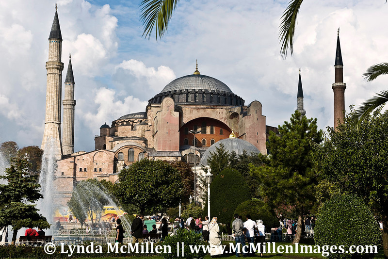 "Hagia Sophia, built in AD 537 used materials ""repurposed"" from the ancient Temple of Artemis."