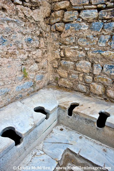 Roman public toilets.  It was under the Romans that Ephesus became the chief port on the Aegean.