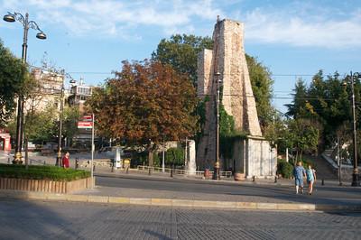 Istanbul hippodrome, basilica cistern and million stone