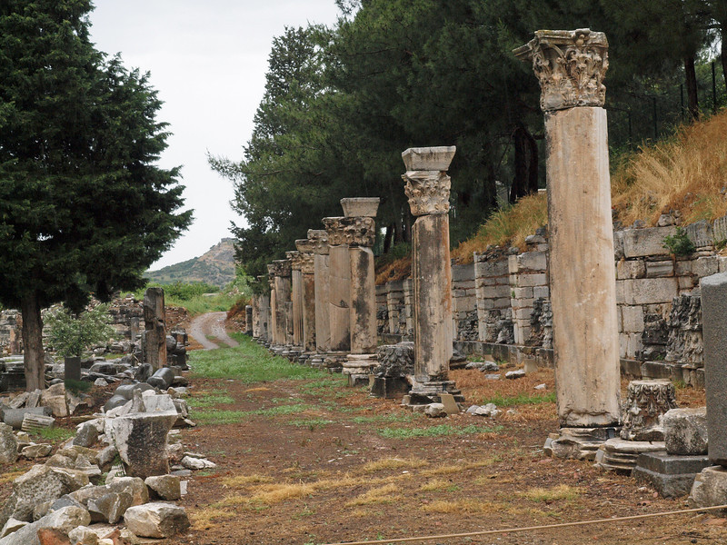Remains of a ruined street - Ephesus