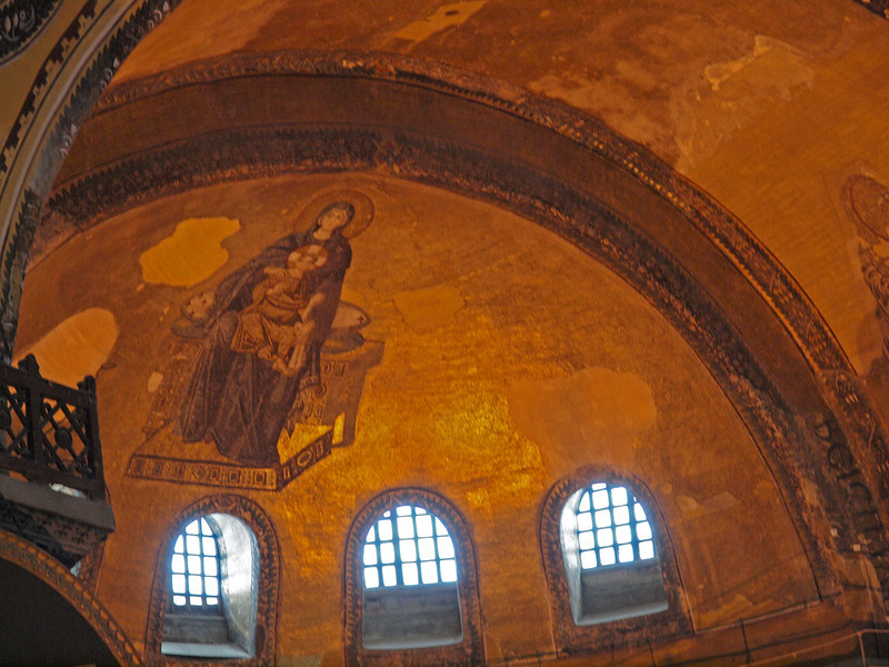 Hagia Sophia. Mosaic of the Virgin Mary and the Christ Child
