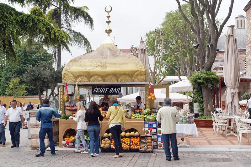 Fruit stand near Hagia Sophia