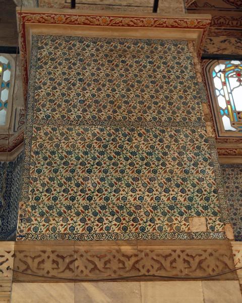 Iznik tiles in the Blue Mosque