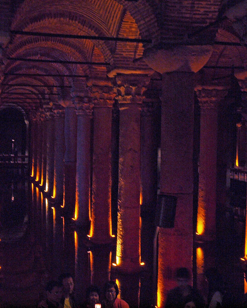 Basilica Cistern - 6th. Century AD Built with columns and sculpture from the Roman Monuments of Istanbul