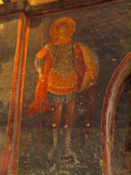 Fresco depicting St. George