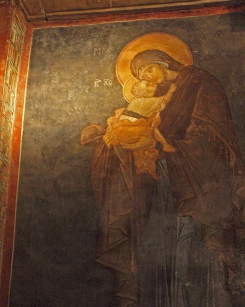 Fresco of The Virgin Elousa