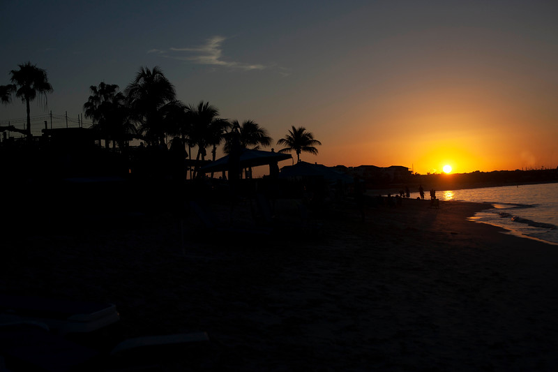 Sunset at Windsong on Grace Bay Beach