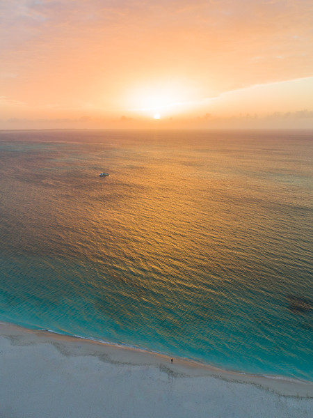 Sunset over Grace Bay