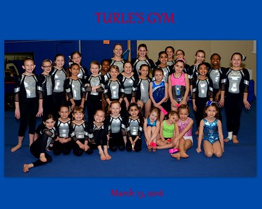 Turle's Gym Team and Individual Photos March 13, 2016