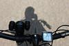 Eventjes spelen met de camera tijdens het fietsen.