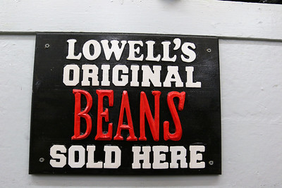 Cote's Market, on Salem Street in Lowell, is celebrating a century in business this year and is now in its fourth generation. Their are signs all over the store to let you know about their famous beans, SUN/JOHN LOVE