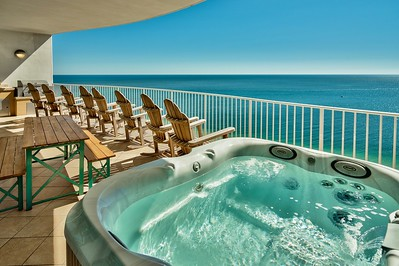 Private hot tub on balcony overlooking Gulf!...VacationsByDana@yahoo.com, 832.758.2331