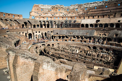 Colosseum arena and hypogeum