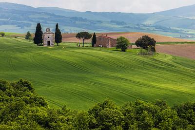 Cappella Madonna di Vitaleta, Tuscany, Italy