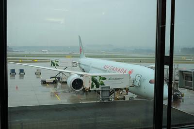 Air Canada Boeing 787 at Zurich Airport