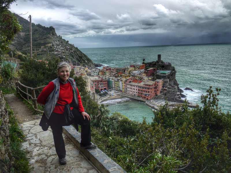 Susie over Vernazza