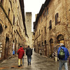 Main shopping street in San Gimignano