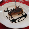La Grotta in Cortona - chocolate cheesecake, still warm