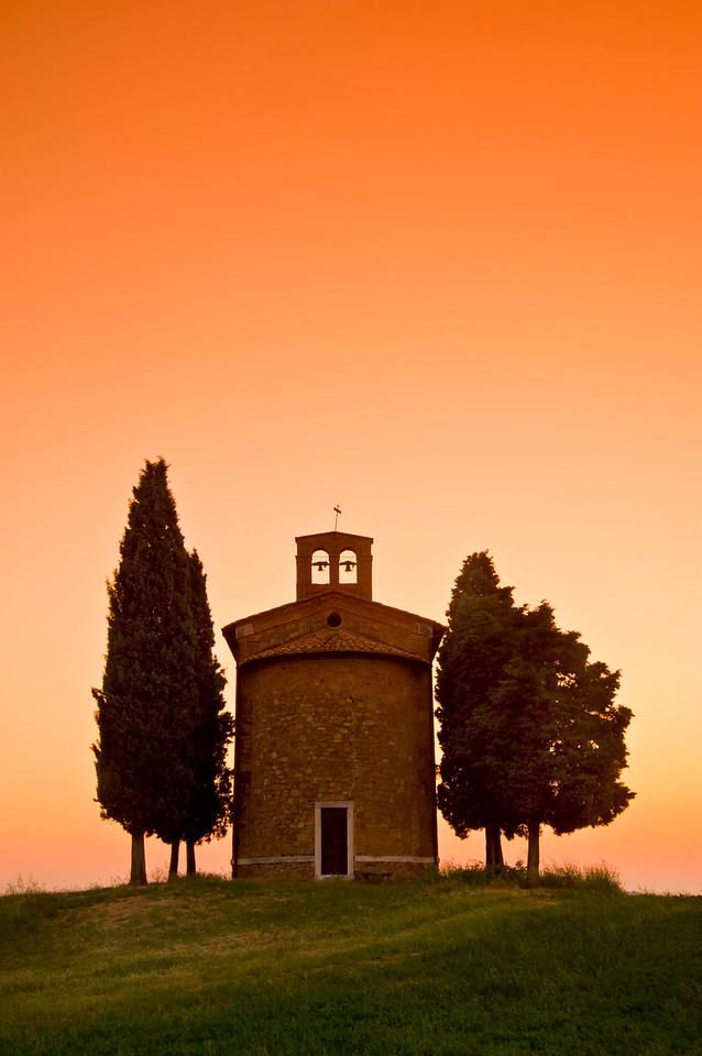 Capella di Vitaleta; Val d'Orcia; Tuscany; Italy