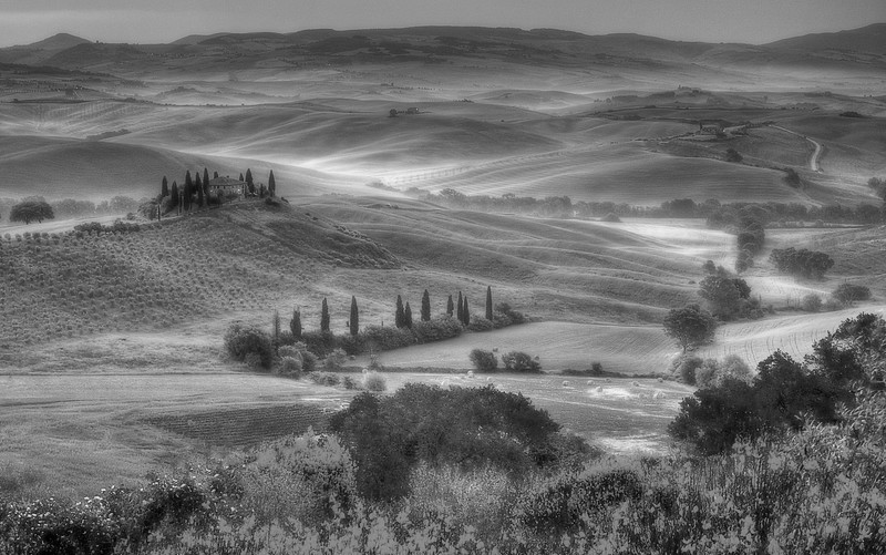 Belvedere; Val d'Orcia; Tuscany; Italy