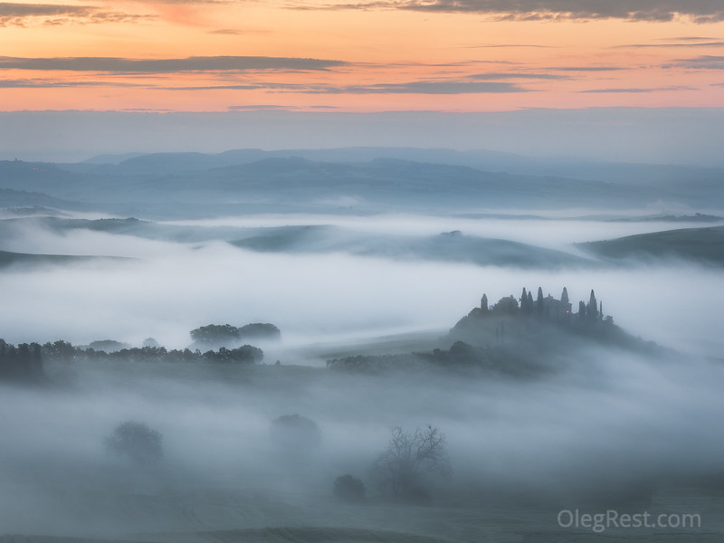 Mist in Tuscany