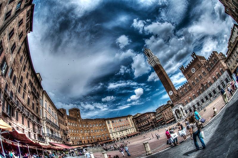 Piazza del Campo; Siena; Tuscany; Italy