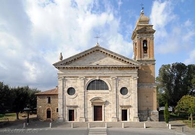 Beautiful church, Montalcino.