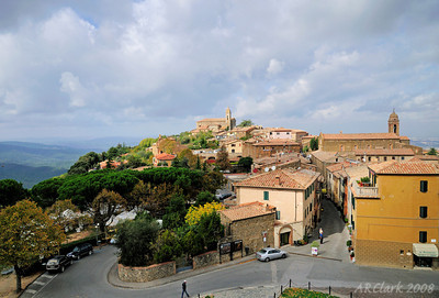 View of Montalcino from the fort.