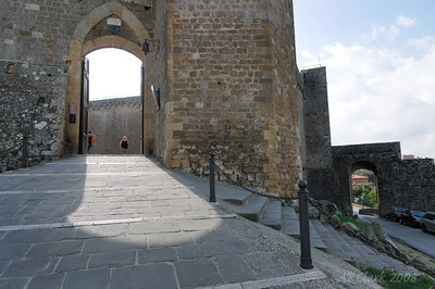 The fort at Montalcino, a wine center and scenic hill town in southern Tuscany.