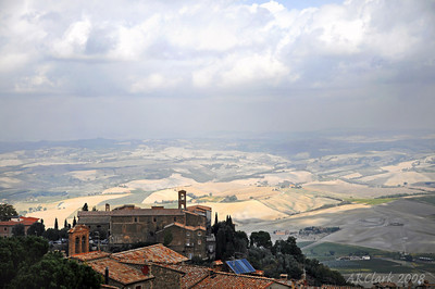 View from the fort at Montalcino.
