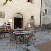 In the TV series Don Mateo was filmed in this cafe in Spoleto