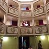 We are standing in box seat location in Monte Castello di Vibio the Teatro della Concordia. The world's smallest theater.