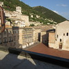 The courtyard of our hotel in Gubbio--The TV show Don Mateo was filmed here