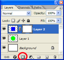 "<h1>Masking</h1> Opacity slider allows us to change the whole layer's transparency level. But what if we want more control over it? Layer Mask to the rescue!  Let's perform the Layer|Layer Mask|Reveal All menu command, or simply click on the Add Layer Mask icon located at the bottom of the layer palette.  Nothing's changed, except for the Layer's palette structure – yet...  Note: there is a separate excellent tutorial on Masking availalble <a href=""http://dgrin.smugmug.com/gallery/1860423"">here</a>."