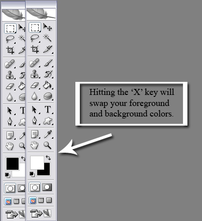 Now with your brush tool start masking the area out.  I suggest using short brush strokes with frequent pauses.  That way if you screw up you can Undo (Ctrl-Z) just your mistake on not a large area.  <br /> <br /> If you do screw up don't worry.  You can hit the 'X' key on your keyboard to swap the foreground and background.  Now you can brush over you mistake to remove the mask.  Remember to hit the 'X' key a second time when you want to start masking again.