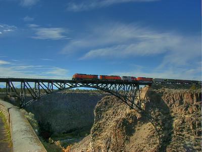 Railroad Trestle at Terrebonne, Oregon in Vivid Color