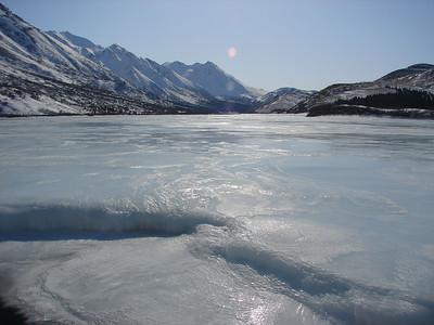Winter Ice on Phelan Creek