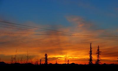 Sunset From Gulkana Airport