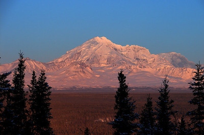 Mt Drum With the Sun Setting