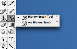 Next, select the History Brush Tool in your Tool Palette.