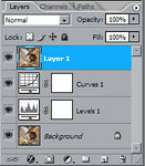 <strong>Create a new layer</strong> To create a new layer above all of your edited layers press ctrl+shift+alt+e at the same time. This will create a composite image at the top of your layers.